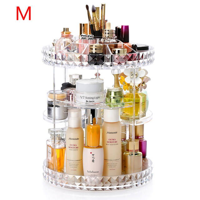 Spin Lipsticks Organizer Rotating Makeup Box Cosmetics Storage Plastic Spin Cosmetic Box Detachable Makeup Organizer Holder Rack