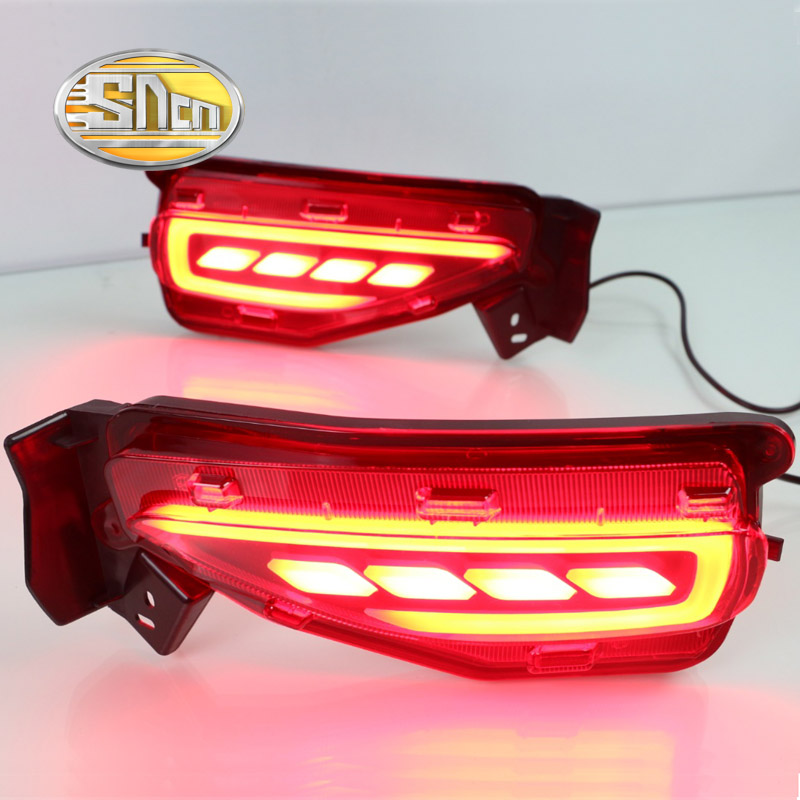 SNCN Multi-functions Car LED Rear Fog Lamp Brake Light Turn Signal Auto Bulb Decoration Lamp For Toyota Fortuner 2015 2016 2017
