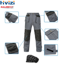 cotton overalls safety workwear clothing men work pants trousers muliti-tool pockets wear-resistant and durable cargo B110