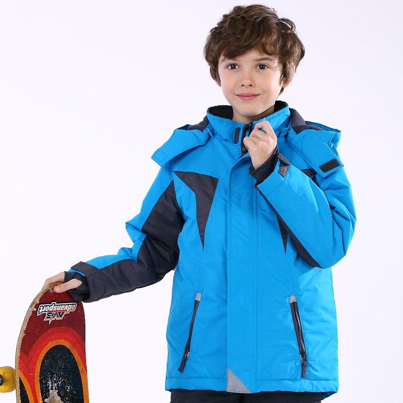 Новая детская верхняя одежда теплое пальто детская спортивная одежда Водонепроницаемый ветрозащитный Утолщаются мальчики девочки хлопок-...