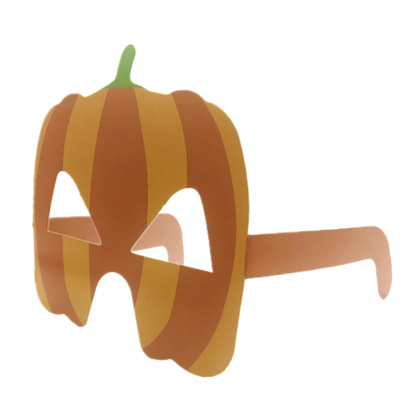 Omilut 6pcs Pumpkin Glasses Halloween Decor Pumpkins Invitation Card Gift For Child Suppli