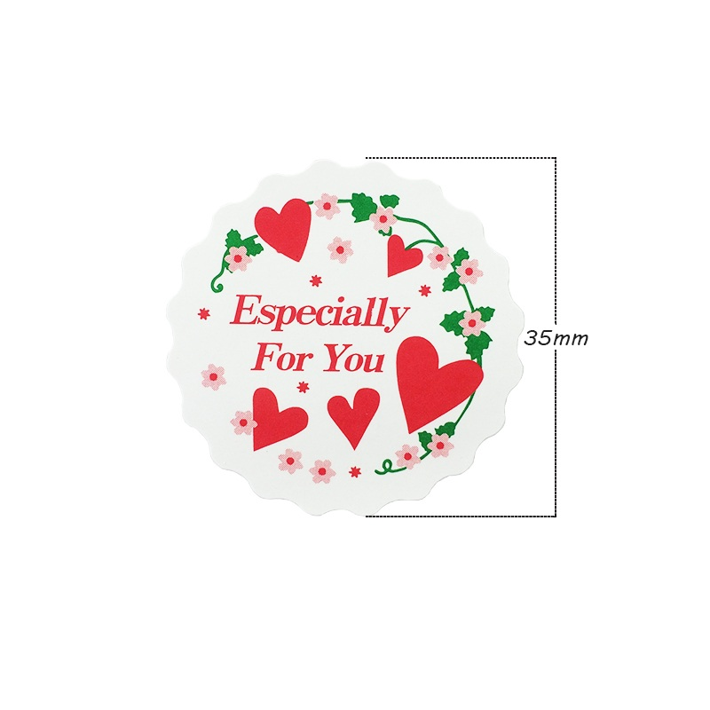 Купить с кэшбэком 120pcs/lot 'Especially For You' Round Heart Sealer Baking Packaging Label Cake Box Party Decoration Gift Seal Label Sticker