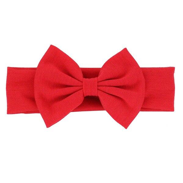Новинка года; хлопковая эластичная однотонная повязка на голову с бантом для новорожденных девочек; Детская повязка для волос; повязка на голову для младенцев; Бандо; bebe - Цвет: 14