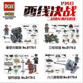 4PCS figures CSF Commandos War Army Soldiers Equipment Weapon Gun Building Block Compatible Lepin Military WW2