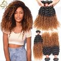 Annabelle Hair Peruvian Jerry Curly Virgin Hair 3 Bundles Blonde Peruvian Ombre Hair 1B 27,30 Kinky Curly Puruvian Hair Bundles