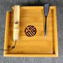 Natürlichen Bambus Tee-tablett + Löffel + Messer Puer Tee Bord Für Zeigt Tee Chinesischen Zeremonie Werkzeuge Zubehör