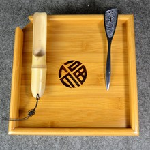 Natural kung fu Bamboo Tea Tray + Spoon + Knife Puer Tea Board set For Showing da hong pao Tea Ceremony Tools Accessories