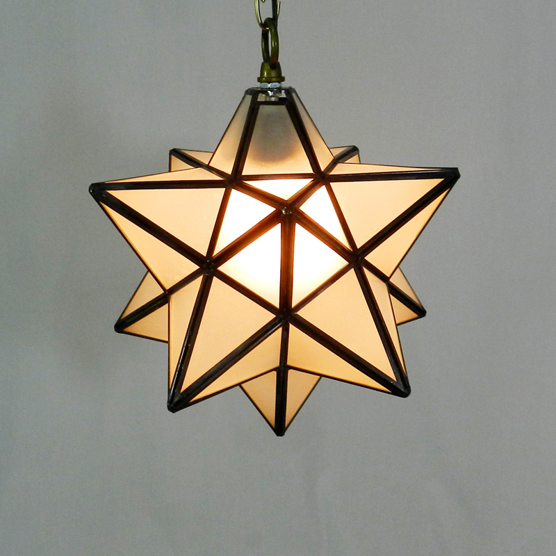Tiffany five-pointed star Pendant Light restaurant dining room living room bedroom lighting bar cafe club creative DF45 living color cute five pointed star embellished bead chain bracelet for women