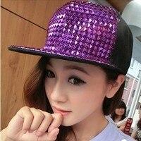 Free shipping woman baseball cap fashion hats Multicolour rivet punk hiphop hat flat brim snapback cap hat
