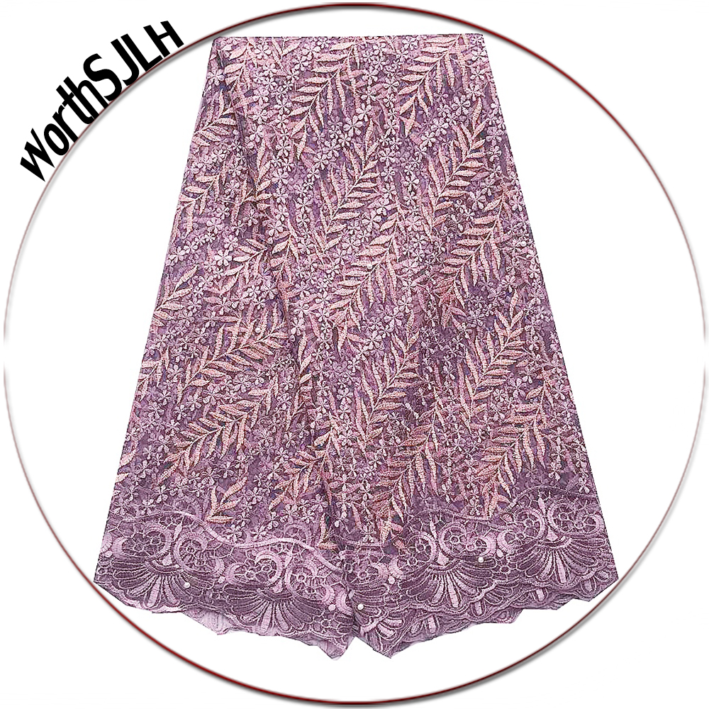 Lilac Embroidered African Lace Fabric Bridal Net Latest Lace Fabric Magenta Nigeria Wedding Lace Fabric High Quality 2019Lilac Embroidered African Lace Fabric Bridal Net Latest Lace Fabric Magenta Nigeria Wedding Lace Fabric High Quality 2019