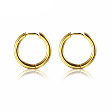 купить Tiny Gold Hypoallergenic Titanium Small Hoop Earrings Minimal Cartilage Hoop Women Men Stainless Steel Round Circle Earrings по цене 129.61 рублей