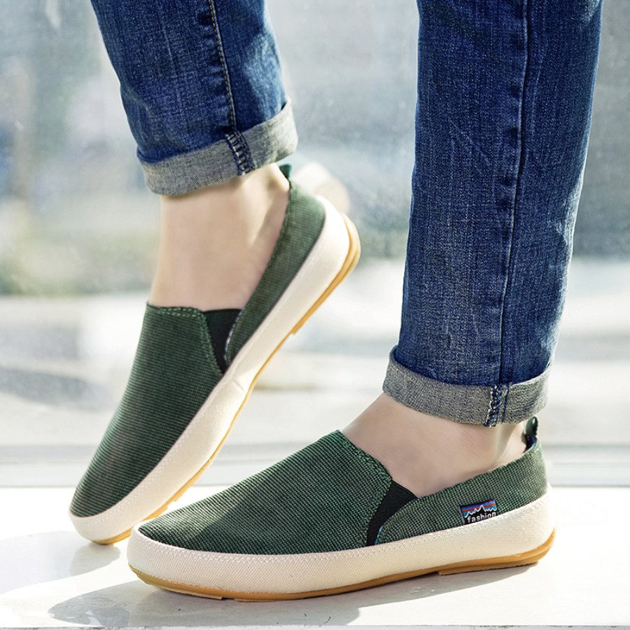 Men Casual Canvas Loafers Size 39-44 Patchwork Design Man Slip-on Shoes Spring Summer Footwear slip-on shoe