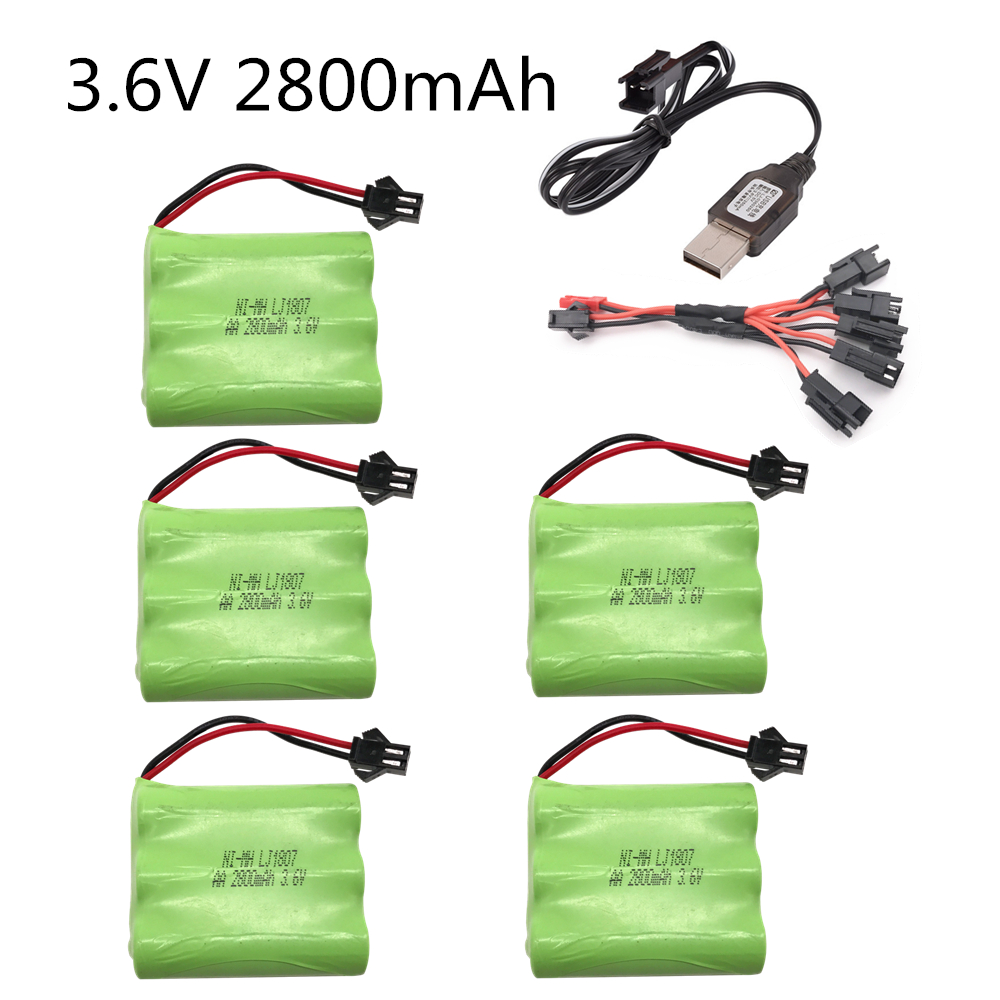 3.6v 2800mah Battery Ni-MH Battery AA NIMH 3.6v Battery Pack For RC Toy Car Boat Model RC Toy 3.6 V Battery