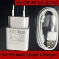100% NEW EUA Plug UE 18 W 5 V OU 9 V 2A QC2.0 Rápido USB PAREDE carregador para huawei honor 7 mate 8 s lg p8 lite max htc samsung