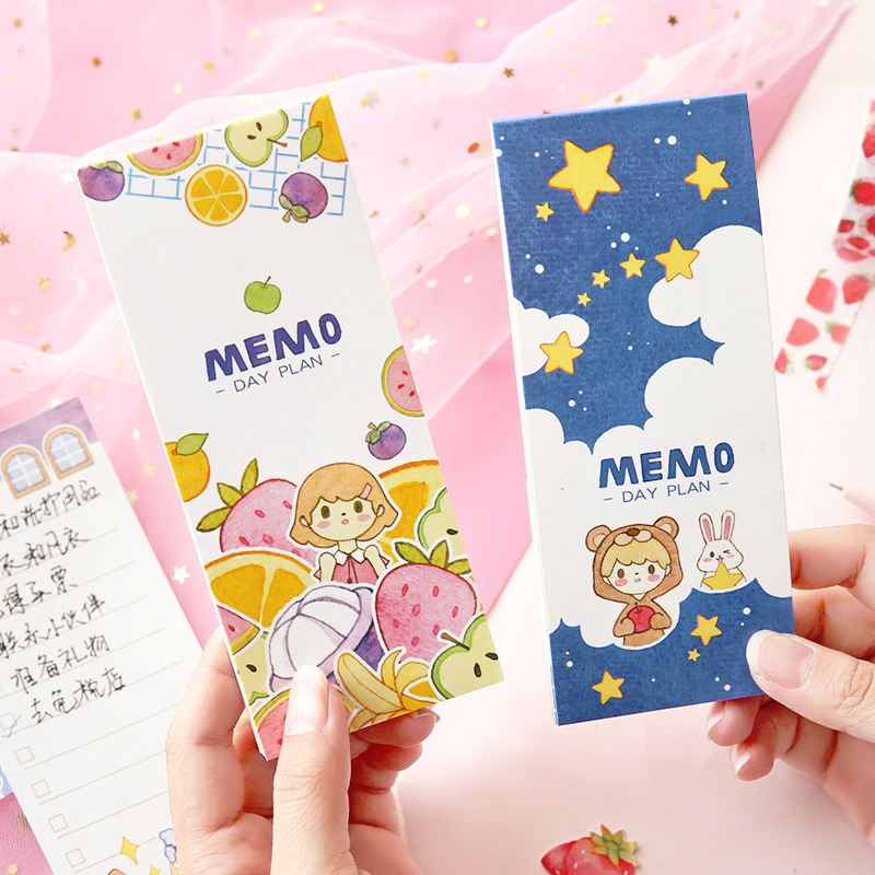 30 Sheets Kawaii Little Girls Portable Planner Notebook To Do List School Office Supply Student Stationery Notepad