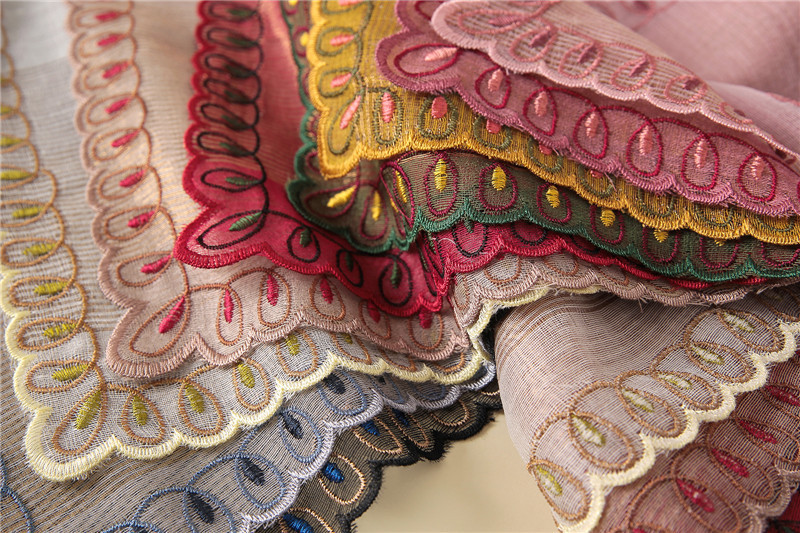 2019 luxury embroidery silk scarf for women shawls high quality woman scarf  winter wrap wool bandana foulard femaleUSD 14.88 piece 22ea2f8f842