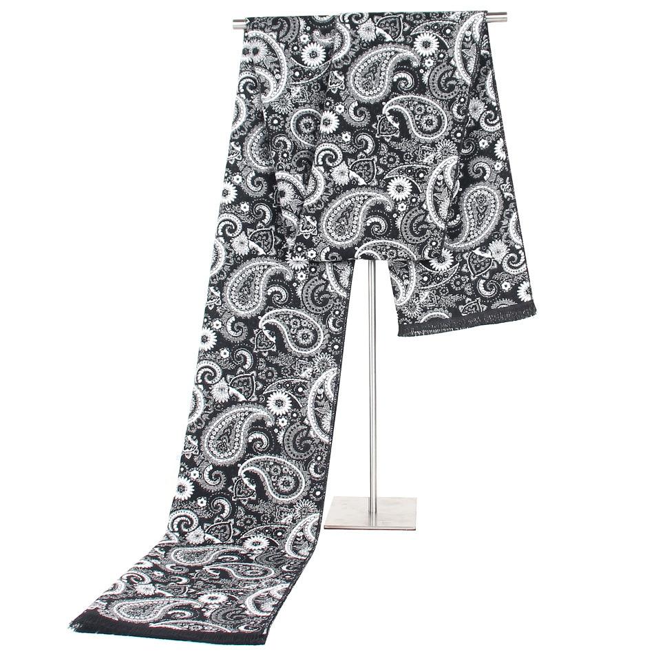 Luxury Brand Designer Men Classic Winter Scarf Warm Soft Tassel Shawl Wrap Sick Scarf Men Scarves