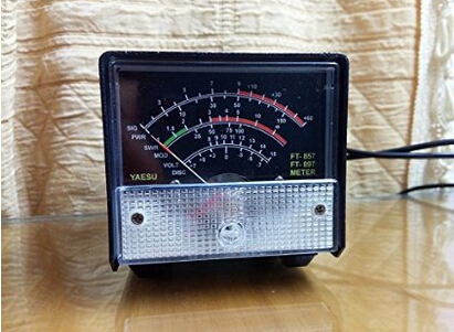 Yosoo Black External S Meter/SWR/Power Meter For Yaesu FT857/FT897