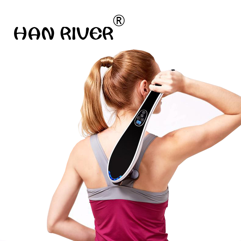 Massage stick electric neck massager, multi-function body massager neck leg tapping massage whole body back rubs