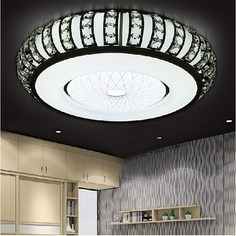 Crystal Round Ceiling Lights Luminaire Deckenleuchten Lampen Kristal Acrylic Flush Mount Lamp Modern Bedroom Living Room Light