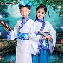 цена на 2019 new china hanfu dress christmas dance costumes for kids traditional chinese tang ancient costume classical children kids