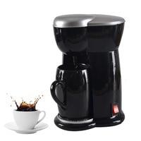 حار بيع الأمريكية بالتنقيط ماكينة القهوة واحد كوب المنزلية الصغيرة مصغرة القهوة صانع آلة الكهربائية