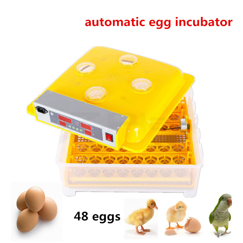 Mini home use Capacity 48 eggs Full Automatic Egg Incubator for Chicken with Digital Commercial Thermostat Control 80W taie thermostat fy800 temperature control table fy800 201000