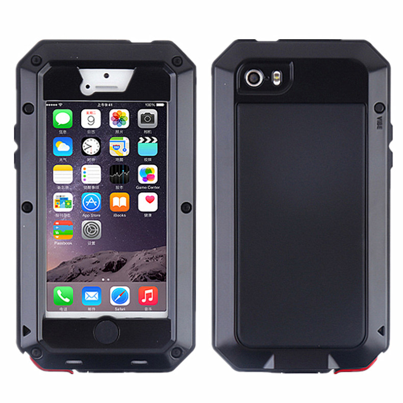 bilder für Luxus proofings wasserdichter shockproof staubdicht stalinite metall abdeckung case für iphone 5 5 s telefon abdeckung capas