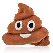 1Pc Cute Emoji Cushion Poo Shape Pillow Stuffed Doll Toys Kids Gifts (Coffee) цена 2017