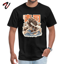 цена на Hip hop T Shirt Plain Crew Neck Untitled Dragon Sushi Wave Mens Tops Shirts Group Slash Sleeve T Shirt Free Shipping