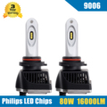 2x 80W 16000LM 9006 HB4 LED Headlight Conversion Kit High/Low Beam Bulb 5700-6000K Car Truck Replacement Super Bright Headlamp