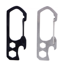 Hex Wrench 3 In 1 EDC Stainless Steel Gear Keychain Bottle Opener Hex Wrench Survival Tools