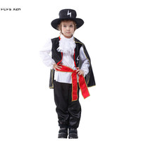 Boys Swordsman Warrior Cosplays Halloween Knight Costumes for Children's day Carnival Purim Masquerade masked ball party dress
