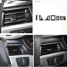 Lapetus Accessories For Audi A5 A4 B9 Sedan Avant Allroad Quattro 2017 2018 2019 Air Condition AC Vent Outlet Frame Cover Trim