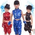 Preto vermelho Azul Crianças Terno de Dança Moderna Jazz Dança Desempenho do desgaste da Dança