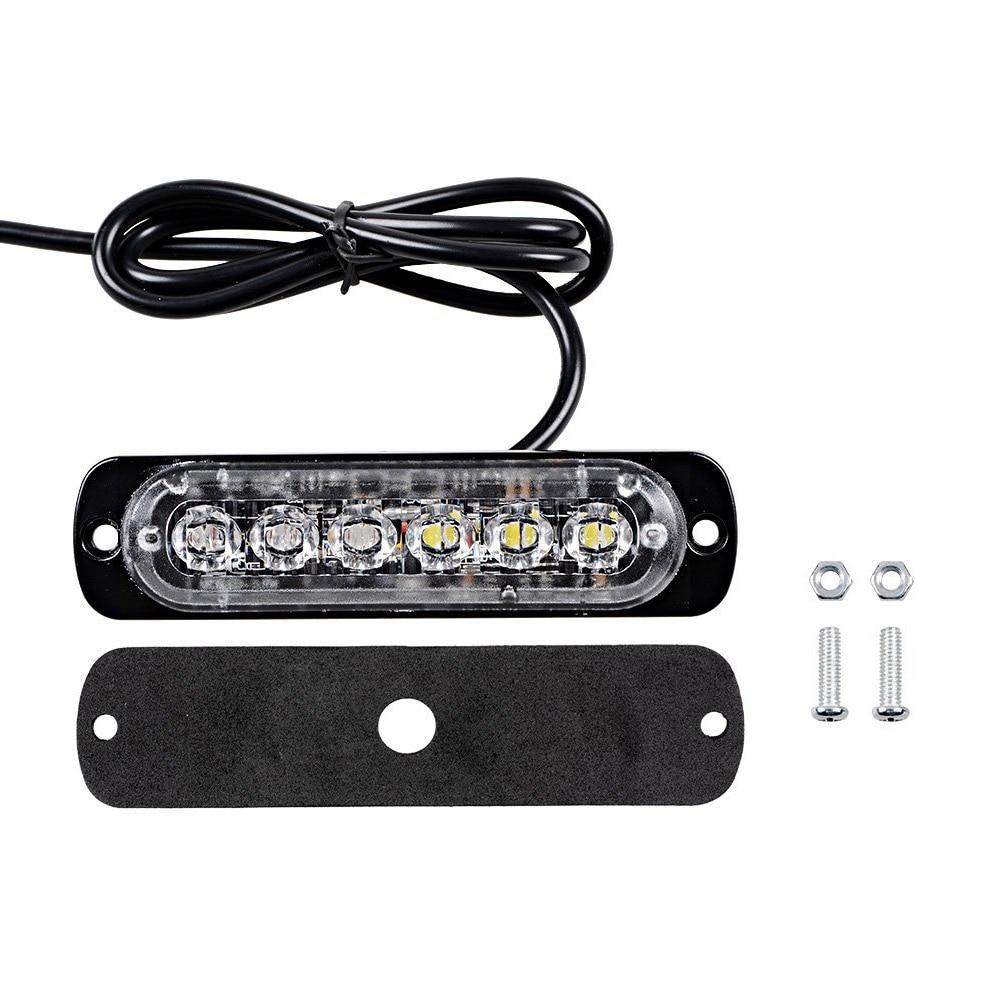 Стайлинга автомобилей 6 LED мини-аварийный автомобиль свет бар 18 режим проблесковый 12В/24В светодиодный Стробоскоп для универсальное средство или грузовик