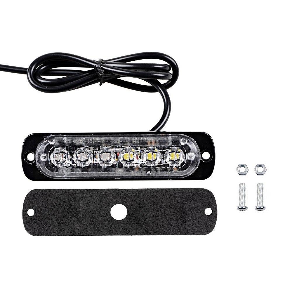 Car Styling 6 LED Car Mini Emergency Light Bar 18 Flashing Mode 12V/24V led Strobe light for Universal Vehivle or Truck