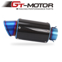 GT Motor New Motorcycle Exhaust 60mm measure Muffler Pipe Carbon Fiber For most Motorcycle
