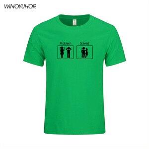 Image 5 - Fishinger Solves Problems T Shirt Short Sleeve Custom Mens Clothes Summer New Fashion O neck Cotton Men Tee Shirts