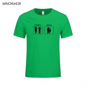 Image 5 - Fishinger פותר בעיות T חולצה קצר שרוול אישית גברים של בגדי קיץ חדש אופנה O צוואר כותנה גברים טי חולצות