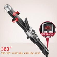 25 мм автоматический бигуди для завивки волос титановый щипцы для завивки профессиональная палочка для завивки волнистые Инструменты для укладки волос с длинным клипером