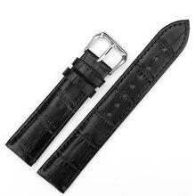 цены на  Hot Black Brown Genuine Leather Watch strap for Men Women 10mm 12mm 16mm 24mm Watch Band with stainless steel pin Buckle  в интернет-магазинах
