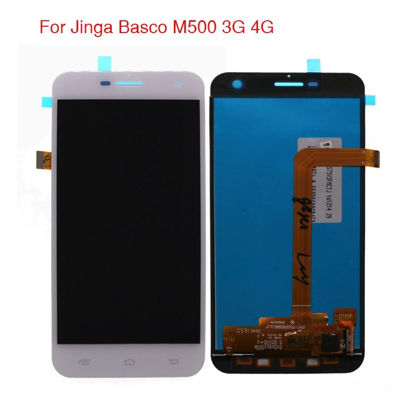 Высокое качество для Jinga Basco M500 3G 4G ЖК-дисплей кодирующий преобразователь сенсорного экрана в сборе с бесплатными инструментами