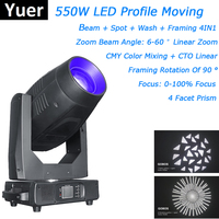 Professional Lighting 550W Moving Head Beam Spot Wash Framing 4IN1 Moving Head Light Dj Equipments Laser Projector Beam Effect