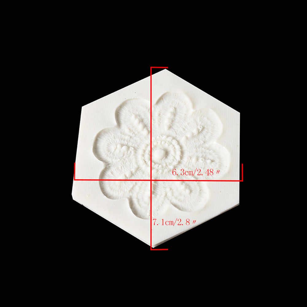 3D زهرة سيليكون قالب الشوكولاته كعكة فندان العفن المطبخ الخبز العفن Sugarcraft كعكة تزيين أداة الصحافة صب احباط العفن