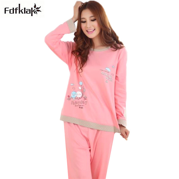 682cbf3719 Winter women pajamas cute cartoon pyjamas women s long sleeve casual  pijamas mujer large size pyjama femme M-3XL Q555
