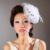 Nova Chegada Chapéus De Casamento 2017 de Cristal Pena De Noiva Acessórios Para o Cabelo de Linho Tule chapeau mariage para Noivas