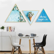 Nordic blue story restaurant decoration painting childlike home mural kitchen Hanging