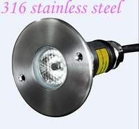 Free Shipping 6pcs/lot 316 Stainless steel IP68 3W RGB LED Underwater Light Color Changing Swimming Pool Light Pond Lamp
