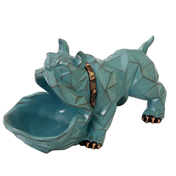 Creative Geometric Dog Resin Model Miniatures Figurine Cartooon Geometric Dog Home Desktop Decoration Accessories Birthday Gifts